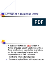 Lay out of a business letter