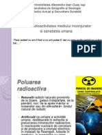 Radioactivitatea Mediului Inconjurator Si Sanatatea Umana