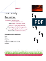 Family Reunion Newsletter