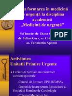 Formarea in Medicina de Urgenta - Diana Cimpoiesu