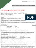 Black Hills Electric Cooperative - Tariffs