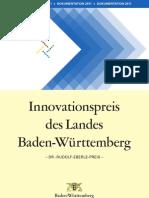 2011 - Dokumentation des Innovationspreises des Landes Baden-Württemberg 2011