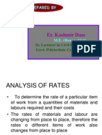 Analysis of Rates