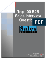 100 Sales Interview Questions