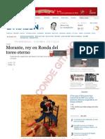 Morante en La Goyesca de Ronda 7/9/2013