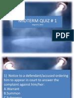 Midter Quiz #1