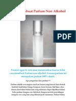 Cara Membuat Parfum Non Alkohol