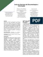 Gestão de eficiencia em serviços de documentação e informação