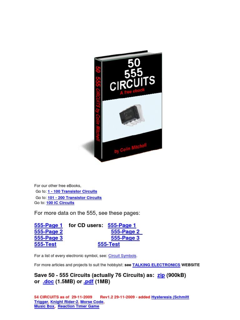 555 Praticas Electronic Circuits Cmos Scmitt Trigger Circuit Using Ne