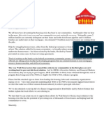 Stop Wall Street From Blocking Local Housing Fix - Letter to Congress July 16 2013