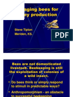 Managing Bees for Honey Production - S Tipton