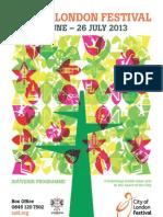 City of London Festival 2013 - Souvenir Programme