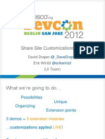DevCon Share Site Customizations Live 2012 PPTX.ppt