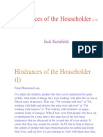 Hindrances of the Householder