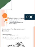 Equilibrium of Particles