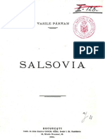Vasile Pârvan, Salsovia
