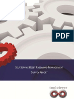 Self Service Reset Password Management Survey Report