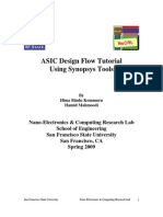 ASIC Design Flow Tutorial