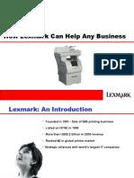 Presentation lexmark copier