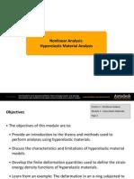 Nonlinear Analysis: Hyperelastic Material Analysis Autodesk Simulation Multiphysics