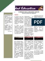 BOLETIN MOVIMIENTO MAGISTERIAL DIGNIDAD EDUCATIVA-ELEMENTOS PARA LA REFLEXIÓN Y ANÁLISIS