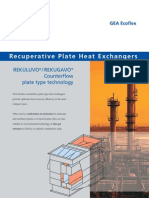 Recuperative Plate Heat Exchangers