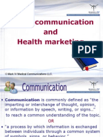 Health marketing + communication