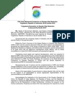 Yogyakarta Declaration 2012