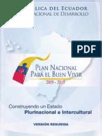 Plan Nacional Del Buen Vivir - Resumen