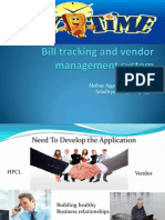 Bill Tracking and Vendor Management System Ppt
