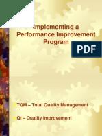 Implementing Performance Improvement Programs