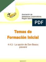 Formacion La Opcion de Don Bosco-Prevenir