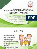 COMUNICACIÓN BASE DE UNA RELACION FAMILIAR
