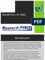 RespectAbilityUSA & Jerusalem U Online Poll of Jews