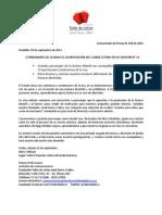 Comunicado de Prensa 009 - Lanzamiento Conde Letras