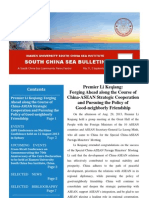 South China Sea Bulletin Vol.1 No.9 (1 September 2013)