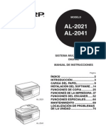 Sharp AL2031 Manual Usuario