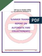 My DMRC Projct Report - Further Edited