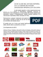 Siria Declaracion Sindicalismo Clase 5sep13