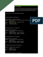 Daftar Alamat Perusahaan Tambang