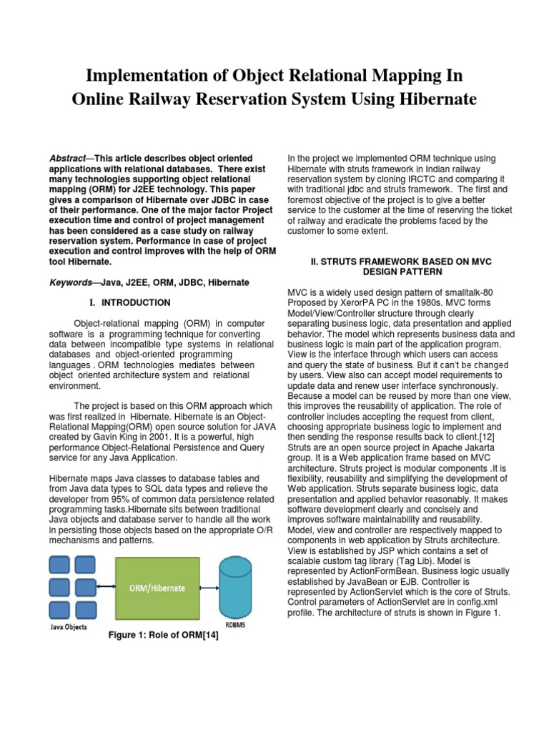 Project Paper | Object Relational Mapping | Cache (Computing)