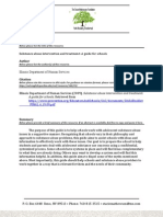 Substance Abuse Intervention and Treatment Guide for Schools