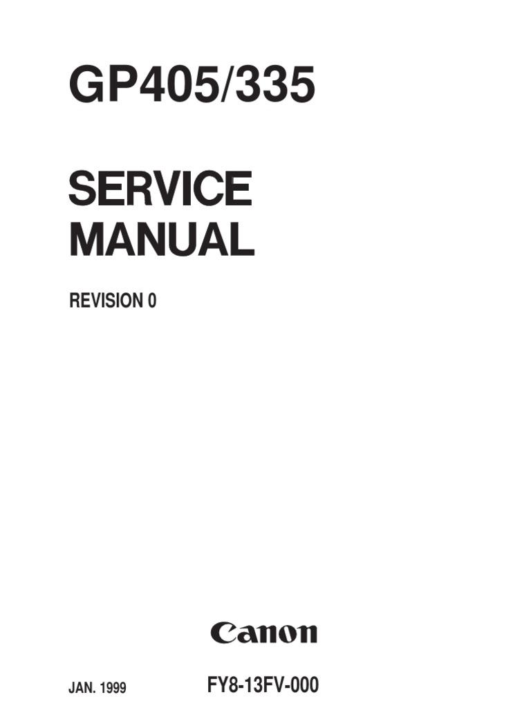 canon gp405 service manual photocopier image scanner rh scribd com Canon iR5055 Brochure canon ir5055 service manual
