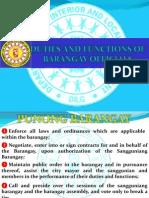 Duties and Functions of Barangay Tanod