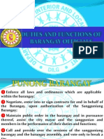 Duties and Functions of Barangay Tanod