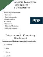 Entrepreneurship  Competency Development
