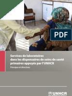 Services de laboratoires dans les dispensaires de soins de santé primaires appuyés par l'UNHCR