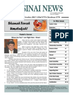 September-October Sinai News 2013