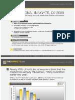 Institutional Insights Q2 2009