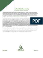 Actions That Build Community